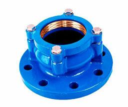 Adaptador acerrojado para tubo PE. FMK Hidraulic Supplies.