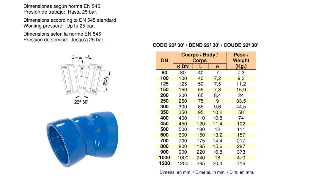 Codo doble enchufe push-on. FMK Hidraulic Supplies.