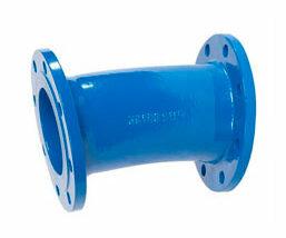 Codo doble brida fija para fundición ductil. FMK Hidraulic Supplies.